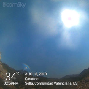 Sella weather August 18th 2019 Casaroc webcam, Sella Costa Blanca