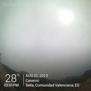 Sella weather: Casaroc webcam, Sella, Costa Blanca, August 1st 2019
