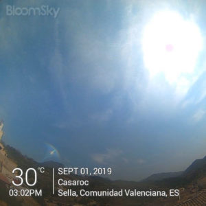 Sella weather Septmber 1st 2019 Casaroc webcam, Sella Costa Blanca