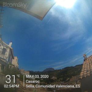 Sella weather May 3rd 2020 Casaroc webcam, Sella Costa Blanca