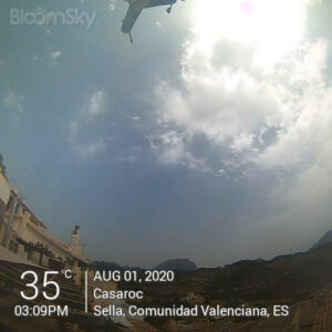 Sella weather records August 1st 2020 Casaroc webcam, Sella Costa Blanca