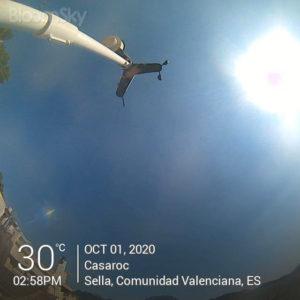 Sella weather records October 1st 2020 Casaroc webcam, Sella Costa Blanca