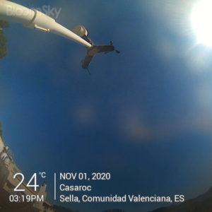 Sella weather records November 1st 2020 Casaroc webcam, Sella Costa Blanca