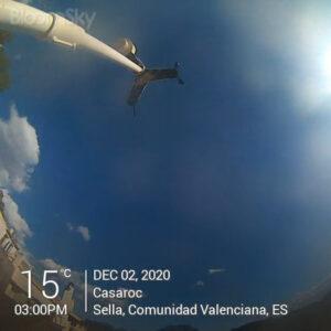 Sella weather records December 2nd 2020 Casaroc webcam, Sella Costa Blanca