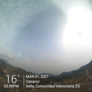 Sella weather records March 1st 2021 Casaroc webcam, Sella Costa Blanca