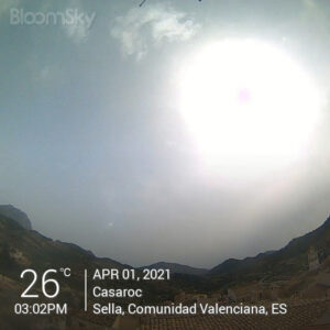 Sella weather records April 1st 2021 Casaroc webcam, Sella Costa Blanca