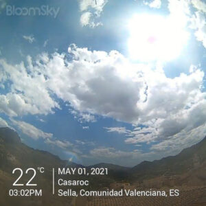 Sella weather records May 1st 2021 Casaroc webcam, Sella Costa Blanca