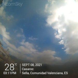 Sella weather records September 8th 2021 Casaroc webcam, Sella Costa Blanca